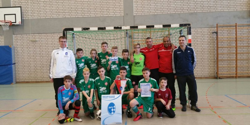 D1: Jungs gewinnen die mittelfränkische Hallenbezirksmeisterschaft